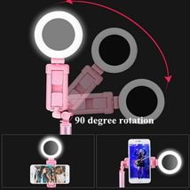 Selfie Stick LED Ring Light Stand 1.7M Extendable Monopod Universal Phones Mount image 4