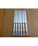 6 ONEIDA COMMUNITY CORONATION Dinner Knife Knives Silverplate ART DECO - $36.00