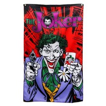 "JOKER Gun & Card Batman Banner Fabric Wall Poster New DC Comics 30"" x 50"" - $16.95"