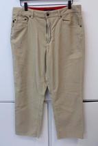 M4612 Mens Tommy Hilfiger Tan Straight Leg Corduroy Casual Pants Size 34 X 30 - $18.30