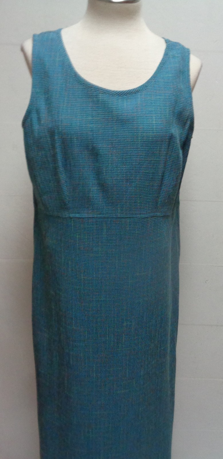 Women's 2 Piece Sleeveless Dress w/Matching Jacket NWT Sz 12 DB Collection Blue
