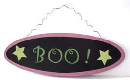 BOO Wood Plaque Door Halloween Decor Wall Hanger - $7.14