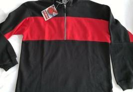 Marlboro Unlimited Gear Vintage Black Red Pullover Jacket 1/2 Zip LRG NW... - $26.60