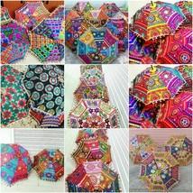 New Indian Multi Color Umbrella Wholesale Wedding Handmade Parasols 10 P... - $40.26