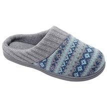 RockDove Sweater Knit Scuff Slippers for Women 11-12 BM US, Teal Blue - $34.00