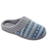 RockDove Sweater Knit Scuff Slippers for Women 11-12 BM US, Teal Blue - $29.32