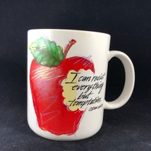 "OSCAR WILDE Temptation Quote Coffee Mug ""I Can Resist Everything But Temptation"" - $14.00"