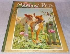 Antique Children's Book Meadow Pets Ernest Nister Bavaria Ca 1895 - $295.00