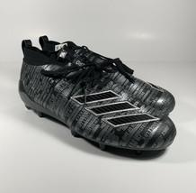 ADIDAS Adizero 8.0 Three Stripe Football Cleats Black Sz 12 *NEW* EE7451 - $66.02