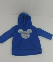 Disney Boys Baby Blue Mickey Mouse Hoodie 12 months - $3.99