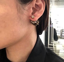 NEW AUTH Christian Dior 2019 DIO(R)EVOLUTION CRYSTAL TRIBALES EARRINGS AGED GOLD image 15