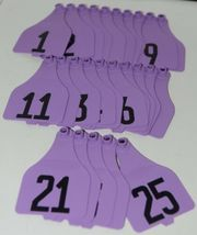 Destron Fearing DuFlex Visual Id Panel Tags for Livestock XL 25 Sets Purple 1-25 image 5
