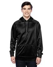 J. America-Polyester Hooded Sweatshirt-8670-XXXL-Black Volt - $32.05