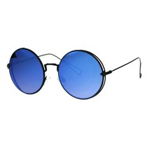 Womens Round Sunglasses Light Metal Circle Frame Mirror Lens UV 400 - $9.95