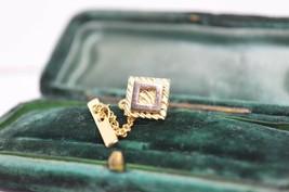 Vintage Gold lapel pin art deco theme #L24 - $12.16