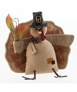 farmhouse primitive country rustic fall Thanksgiving decor Gobble Turkey... - $39.99