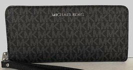 New Michael Kors Jet Set Travel Continental wallet PVC Black - $90.00
