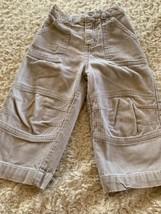 Cherokee Boys Beige Corduroy Pants Snap Button Pockets 18 Months - $5.00