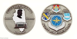 """SCOTT AIR FOCE BASE AFB LINCOLN ILLINOIS 1.75"""" CHALLENGE COIN - $16.24"""
