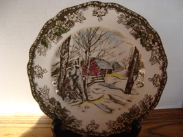 Johnson Bros. China friendly village bread & butter plate. older brown b... - $10.00