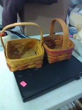 2 Longaberger Small Baskets - Fixed Handle - 1994 - $9.15
