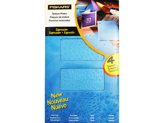 """Fiskars Texture Plates """"Expression"""", 4 Textures Included #12-5657"""