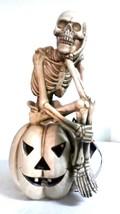 """Halloween LED Animated  Skeleton on Pumpkin  10"""" x 10"""" Gloom For Room  - $50.13 CAD"""