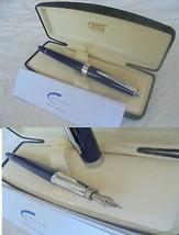 Cross Aventura Penna Stilografica Blu E Acciaio +Gar + Scatola Blue Fountain Pen - $37.99