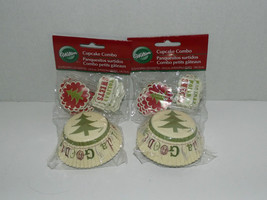 2 Packs Wilton Cupcake Combo Liners & Decorations Christmas 24 Cups & Pi... - $8.90