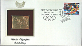 WINTER OLYMPICS - Bobsledding  FIRST DAY OF ISSUE STAMP: Jan. 11, 1992 - $8.50