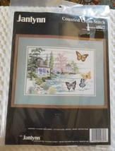 Vintage NIP Janlynn Counted Cross Stitch Summer Retreat #50-389 Made in ... - $13.00