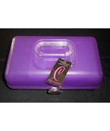 CABOODLES MAKEUP / NAIL PURPLE COSMETIC ORGANIZER CARRYING CASE W/ MIRRO... - $34.29