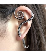 Antique Real 925 Sterling Silver Clip Earrings Punk Rock Big Octopus Foot Earrin - $39.34