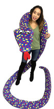 American Made 18 Foot Giant Stuffed Snake 216 Inches Soft, Polka Dot Blue Yellow - $149.99