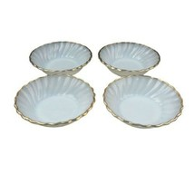 "Fire King Anchor Hocking White Swirl Set of 4 Dessert Fruit Bowls 4 7/8""... - $13.85"