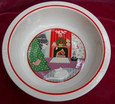 """EPOCH TWAS THE NIGHT BEFORE CHRISTMAS ROUND SERVING BOWL 8 3/4""""  8100 TREE - $25.24"""