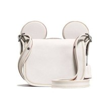 Women's Coach Patricia Leather Saddle Bag with Mickey Ears - $236.93
