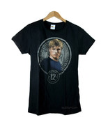 NEW The Hunger Games District 12 Peeta In Stone Seal Black Girl Junior T... - $19.99