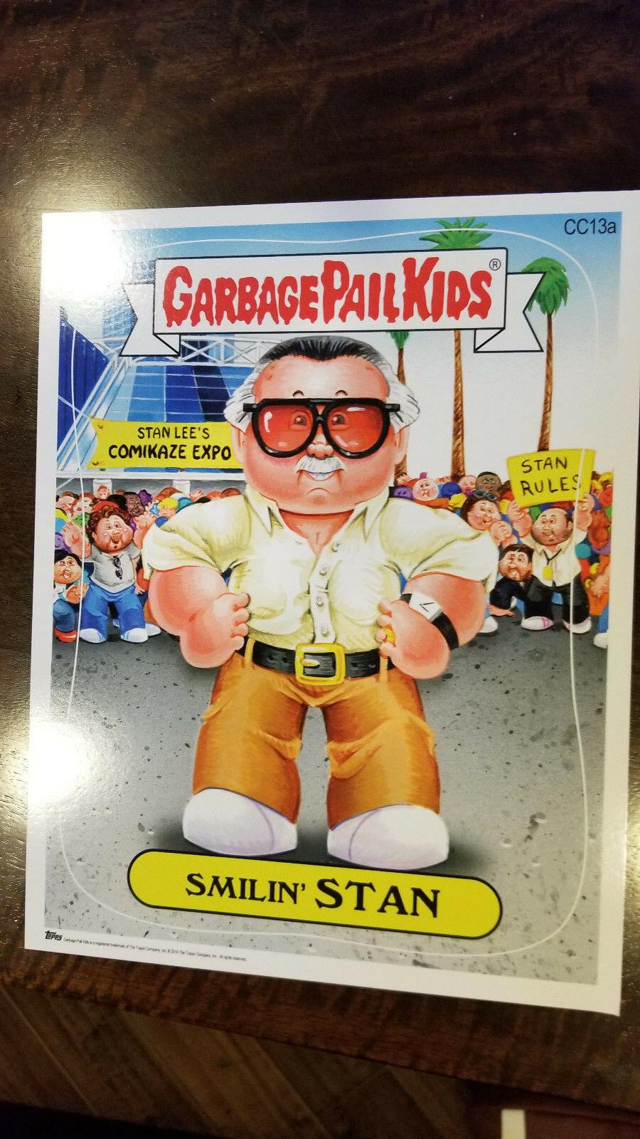2014 Comikaze Topps Garbage Kübel Kinder Smilin Stan Lee Groß Promo Karte #CC13A