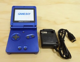 Nintendo Game Boy Advance GBA SP Cobalt Blue System AGS 101 Brighter MIN... - $124.69