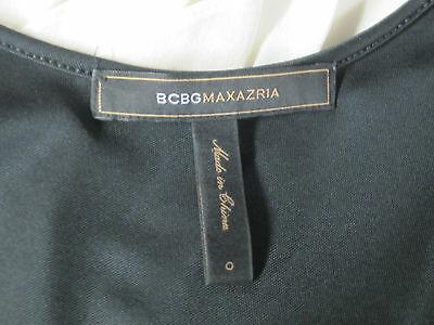 Bcbg Max Azria Dress 0 (XS) Soie Cocktail Volants sans Manche Réservoir Noir