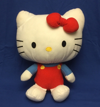 """Sanrio Hello Kitty 12"""" plush toy blue red outfit and bow 2011 Fiesta - $9.00"""
