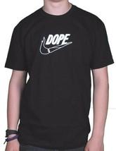 Dope Couture Sólo Doob It Negro Camiseta Cuello Redondo Swoosh Marijana 420 Nwt