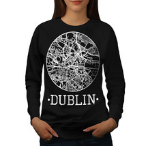 Ireland City Dublin Jumper Town Map Women Sweatshirt - $18.99