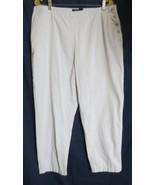 LAUREN RALPH LAUREN GREEN LABEL BEIGE SIDE BUTTON DRESS PANTS SZ 16 - $10.00