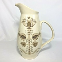 1960s Franciscan Spice Pattern Pitcher MCM Made USA 56 Ounce Brown Cream... - $29.65