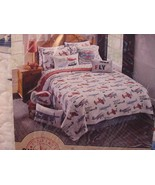 Sky Hawk Vintage Airplanes Red Blue White 2 pc Quilt Set Twin - $119.00