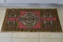 Turkey Rug Turkish Home Decor Vinatage Decorative Doormat Old Rug 21 x 3... - $104.50