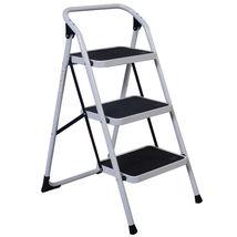 Protable 3 Step Ladder Folding Non Slip Safety Tread Heavy Duty Industri... - $10.38