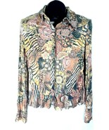 Metric New York Womens Multicolored Blouse Shirt Size Medium New H - $12.95